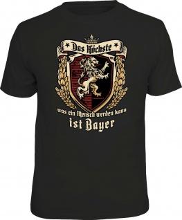 Herren T-Shirt bedruckt - Das Höchste ist Bayer - lustige Geschenke für Männer