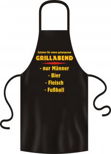 Grillschürze - Grillabend für Männer - Vorschau