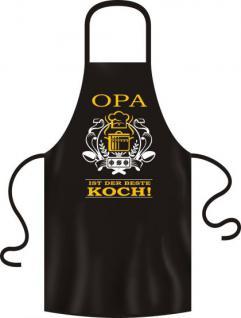 Küchenschürze - Opa ist der beste Koch