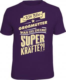 Geburtstag T-Shirt Großmutter und Superkräfte Muttertag Shirt Geschenk bedruckt