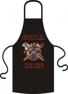 Grillschürze - Grill Chef Grillchef - Schürze Kochschürze bedruckt - Geschenk