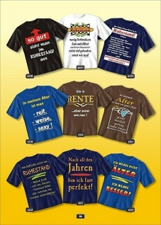 Fun Collection T-Shirts Ruhestand Rente Alter Geburtstag Shirt Geschenk bedruckt