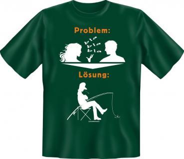 Angler T-Shirt Problem Lösung Angeln Fun Shirt Geburtstag Geschenk geil bedruckt