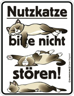 Humor Kühlschrankmagnet Nutzkatze nicht stören Kühlschrank Magnet Schild Metall