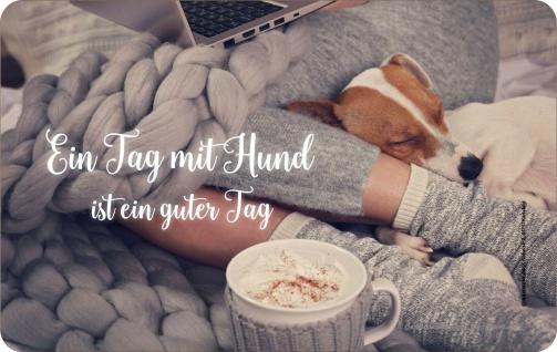 Frühstücksbrettchen - Ein Tag mit Hund ist ein guter Tag - Geburtstagsgeschenk