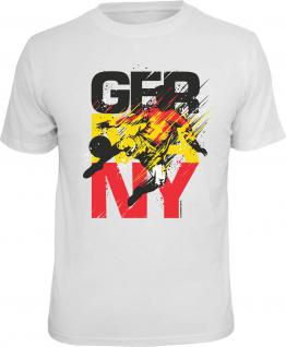 Fussball T-Shirt Germany Schwarz Rot Gold Trikot Shirt Geschenk geil bedruckt