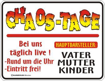 Fun-Schild - Chaos-Tage - Vorschau