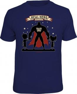 Geburtstags-Shirt - Real Hero Dad - lustige T-Shirts Herren Vatertag Geschenk