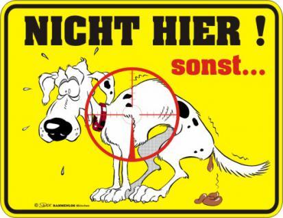Fun Warnschild - Hund im Fadenkreuz