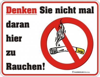 Warnschilder - Rauchverbot - Vorschau