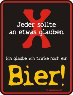Fun Blech-Schild - Glaube an Bier - Vorschau