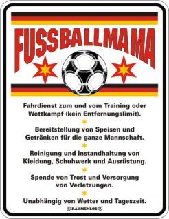 Fun-Schild - Fussballmama - Vorschau