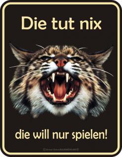 Fun Warnschilder - Die Katze tut nix - Vorschau