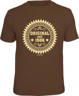 Geburtstag T-Shirt Original seit 1986 Fun Shirt 4 Heroes Geschenk geil bedruckt