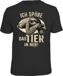 Herren T-Shirt bedruckt - Das Tier in mir - lustige Geschenke für Männer Shirts