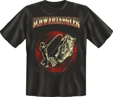 Angler Geburtstag T-Shirt Schwarzangler Angel Fun T Shirt Geschenk geil bedruckt
