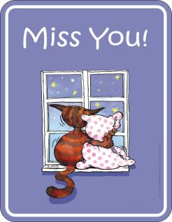 Katzen Fun Schilder - Miss you