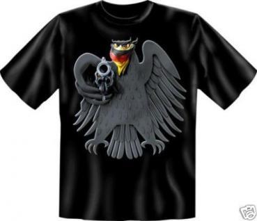 geil bedruckte Fun T-Shirts T Shirt - Bundesadler - Deutschland Adler mit Tuch