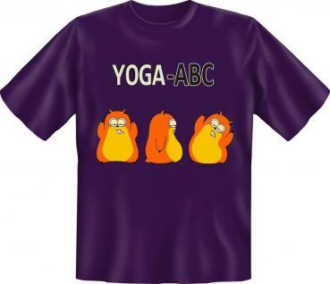 T-Shirt - Yoga-Abc - Sport Fitness Yoga Fun Shirts Geschenk geil bedruckt