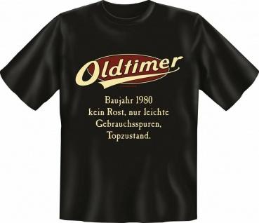Herren Geburtstag T-Shirt - Oldtimer Baujahr 1980 - FunShirt Geschenk