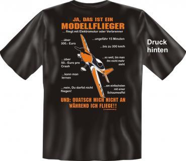 T-Shirt Modellflieger FAQ Modellbau Fun Shirt Geburtstag Geschenk geil bedruckt