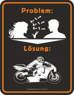 Humor Kühlschrankmagnet Problem Lösung Bike Kühlschrank Magnet Fun Schild Metall