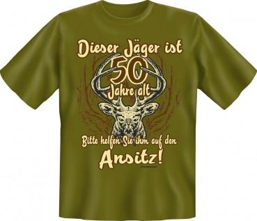 Jäger Geburtstag T-Shirt 50 Jahre Ansitz Jagd Shirt Geschenk geil bedruckt
