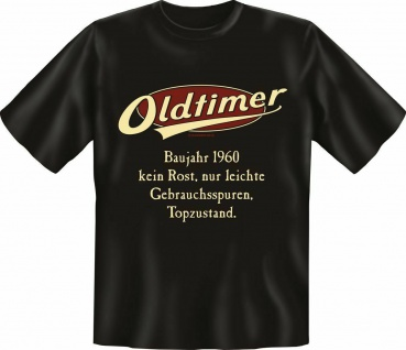 Geburtstag T-Shirt - 60 Jahre - Oldtimer Baujahr 1960 - Fun Shirts Geschenk