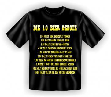 T-Shirt - Die 10 Bier Gebote - Vorschau