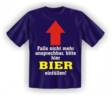 T-Shirt - Hier Bier einfüllen - Vorschau