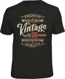 Geburtstag T-Shirt - 100% Premium Vintage seit 50 Jahren Fun Shirt Geschenk