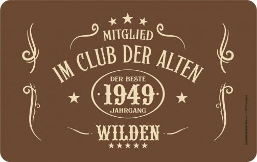 Frühstücksbrettchen - 1949 - Der beste Jahrgang Alte Wilde - Geburtstagsgeschenk