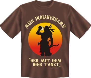 geil bedruckte Fun T Shirts T-Shirt - Name Bier Indianer - Geburtstag Geschenk