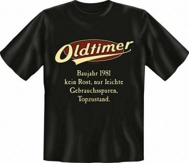 Geburtstag T-Shirt - 40 Jahre Oldtimer Baujahr 1981 - Sprüche T Shirt Geschenk