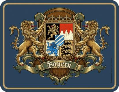 lustige Sprüche Schilder - Bayern Wappen - Blechschild bedruckt geprägt Geschenk
