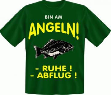 Angel T-Shirt - Bin am Angeln Angler - Vorschau