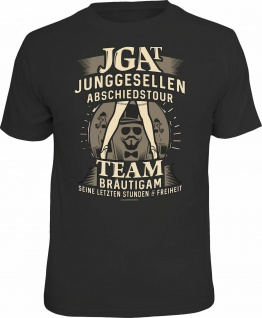 Junggesellenabschied T-Shirt JGAT Team Bräutigam Shirt geil bedruckt