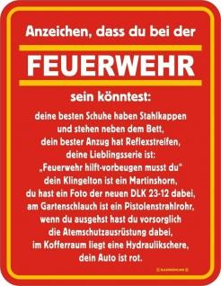 Fun Collection Blechschild Feuerwehr FFW 112 Schild Geschenk Auswahl bedruckt - Vorschau 4