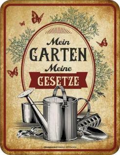Männer Funschild - Mein Garten Meine Gesetze - Sprüche Schilder Blechschild