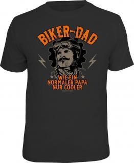 Geburtstag T-Shirt Cooler Biker-Dad Vatertag Biker Shirt Geschenk geil bedruckt