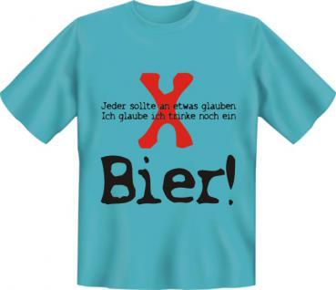 T-Shirt - Glaube an Bier - Vorschau