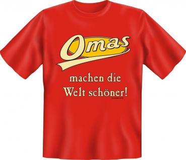 T-Shirt Omas machen die Welt schöner Geburtstag Fun Shirt Geschenk bedruckt