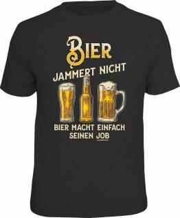 Fun T-Shirt - Bier jammert nicht und macht seinen Job - Männer Geschenke Shirts