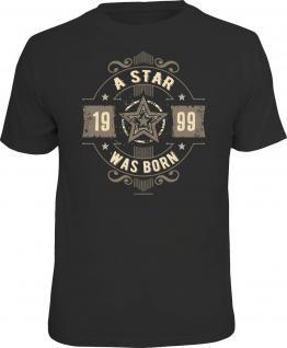 Geburtstag T-Shirt 18 Jahre - A Star was born 1999 Geschenk Shirt geil bedruckt
