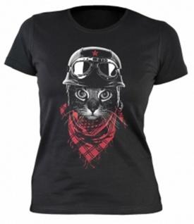 Lady-Shirt Biker-Katze Shirts 4 Girls Damen T-Shirt Geburtstag-Geschenk