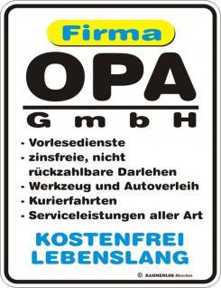 lustige Kühlschrankmagnet Firma Opa GmbH Kühlschrank Magnet Fun Schild Metall
