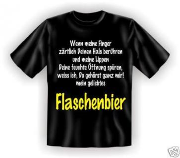 geil bedruckte Fun T-Shirts T Shirt - Flaschenbier - Geburtstag Bier Geschenk