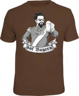 Fun T-Shirt Prost Ein Hoch auf Bayern Oktoberfest Wiesn Shirt geil bedruckt