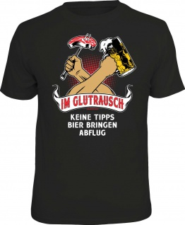 Herren T-Shirt bedruckt - Im Glutrausch - lustige Grill Geschenke für Männer