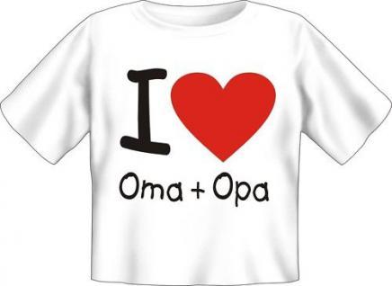 Baby T-Shirt geil bedruckt Shirts - I love Oma und Opa - Geburtstag Geschenk